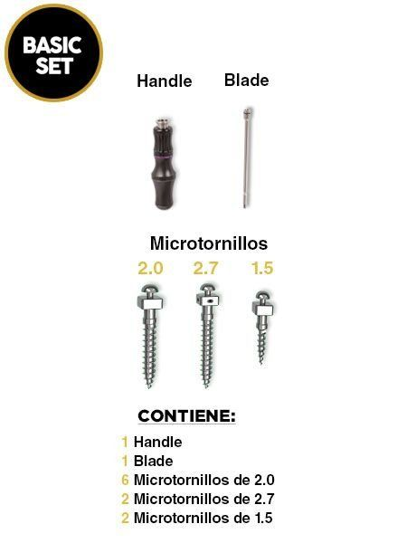 Kit Basic Set Microtornillos OBS para Ortodoncia