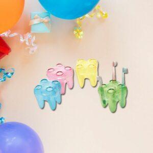 Bote diente cepillo de dientes transparente (1 unidad)
