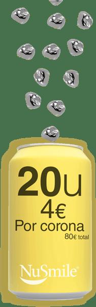 Reposicion Coronas metalicas NuSmile 20 unidades