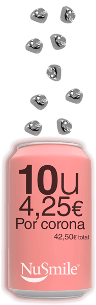 Reposicion Coronas metalicas NuSmile 10 unidades