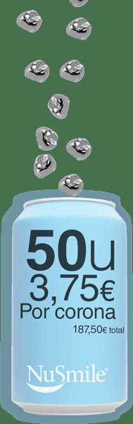Reposicion Coronas metalicas NuSmile 50 unidades